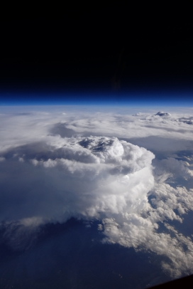 Storm Cell Over the Southern Appalachian Mountains, NASA, Stu Broce