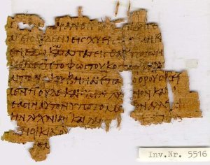 5th century papyrus, part of Matthew chpt 5