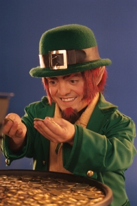 A Leprechaun counts his gold. Ignacio Leonardi, freeimages.com