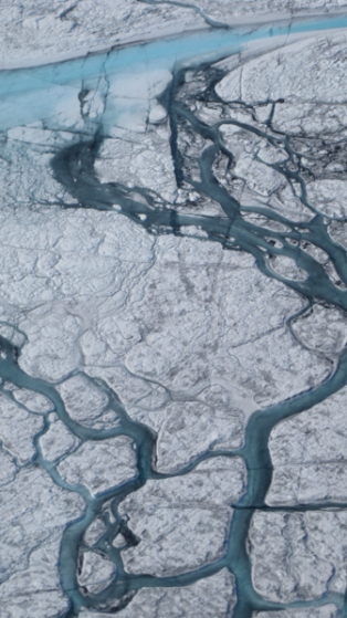 Greenland river July 2012 By M. Tedesco/CCNY for NASA ICE [Public domain], via Wikimedia Commons