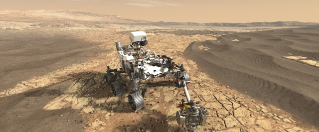 Martian rover (NASA) crop