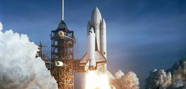 space shuttle launch NASA 1982 crop